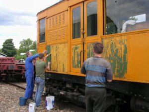 Décapage de peinture sur le TA.01