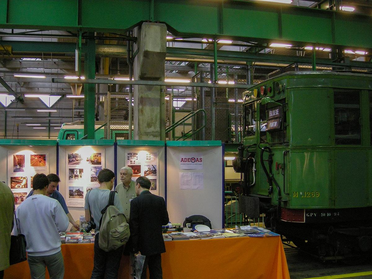 Stand Ademas lors d'une journée portes ouvertes aux ateliers de Bobigny